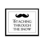 'Staching Through the Snow Framed Panel Print
