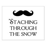 'Staching Through the Snow Small Poster