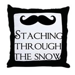 'Staching Through the Snow Throw Pillow