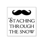 'Staching Through the Snow Square Sticker 3