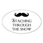 'Staching Through the Snow Sticker (Oval)