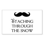 'Staching Through the Snow Sticker (Rectangle)