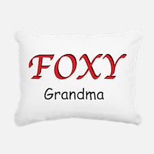 Foxy Grandma Rectangular Canvas Pillow