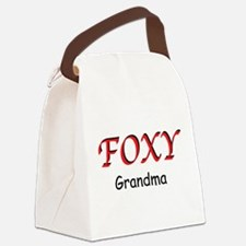 Foxy Grandma Canvas Lunch Bag