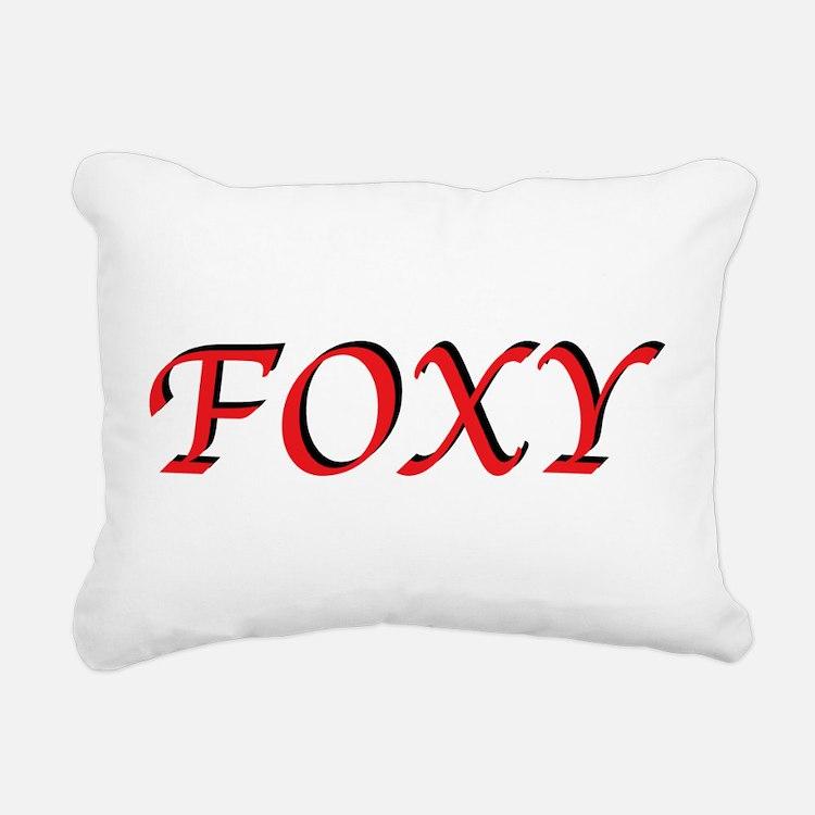 FoxyT.png Rectangular Canvas Pillow