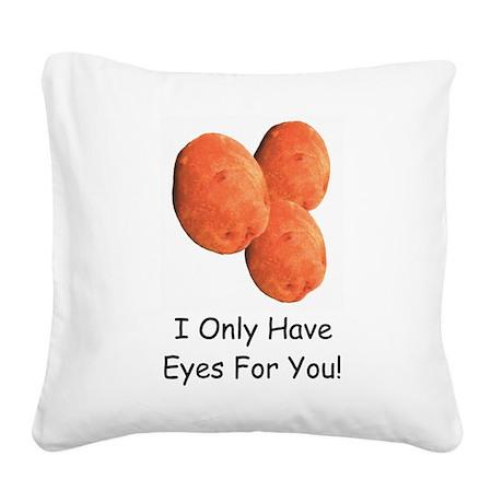 EyesForYouMug.png Square Canvas Pillow