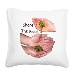 SharePeasN.png Square Canvas Pillow