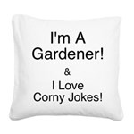 LoveCornyJokes.png Square Canvas Pillow