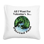 ValentinesPeas.png Square Canvas Pillow