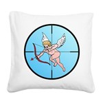 TargetCupidB.png Square Canvas Pillow
