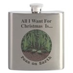 Xmas Peas on Earth Flask