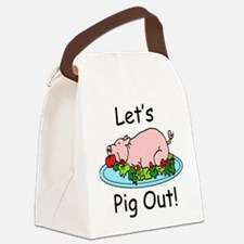 Pig Out Canvas Lunch Bag