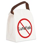 No Lutefisk Canvas Lunch Bag