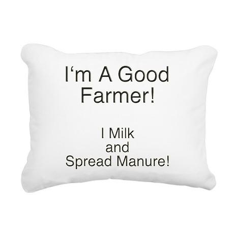 A Good Farmer Rectangular Canvas Pillow