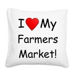 FarmMarketBmpr.png Square Canvas Pillow