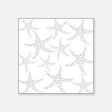 "Dotty Gray Starfish. Square Sticker 3"" x 3"""