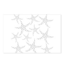 Dotty Gray Starfish. Postcards (Package of 8)