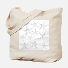 Dotty Gray Starfish. Tote Bag