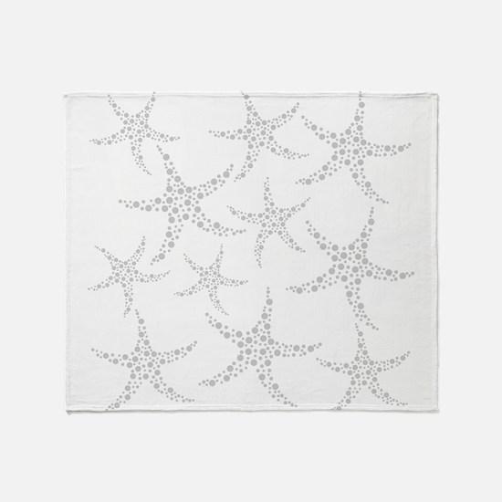 Dotty Gray Starfish. Throw Blanket
