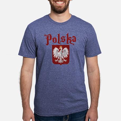 Polska Mens Tri-blend T-Shirt