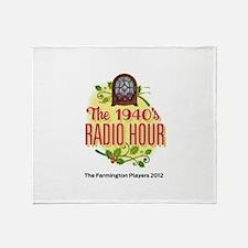 1940s Radio Hour Logo Throw Blanket