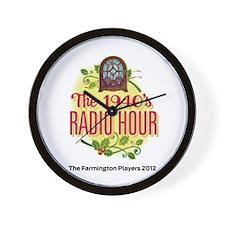 1940s Radio Hour Logo Wall Clock