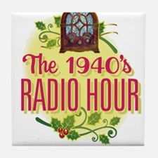 1940s Radio Hour Logo Tile Coaster