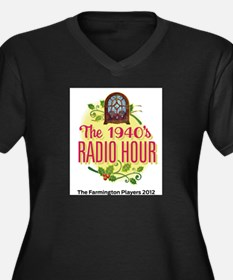1940s Radio Hour Logo Women's Plus Size V-Neck Dar