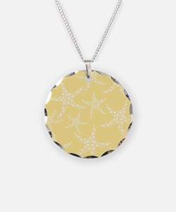 Dotty Starfish, Yellow. Necklace