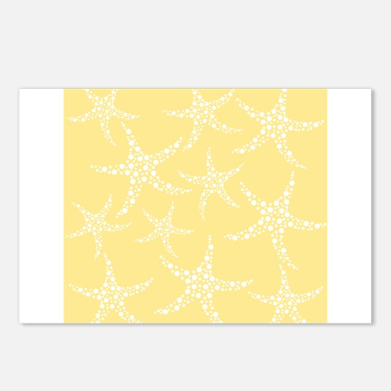 Dotty Starfish, Yellow. Postcards (Package of 8)