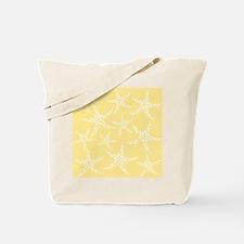 Dotty Starfish, Yellow. Tote Bag