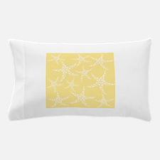 Dotty Starfish, Yellow. Pillow Case