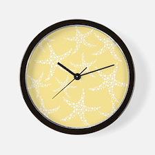 Dotty Starfish, Yellow. Wall Clock