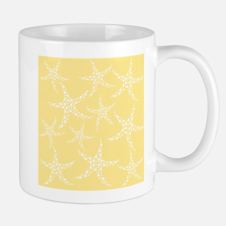 Dotty Starfish, Yellow. Mug