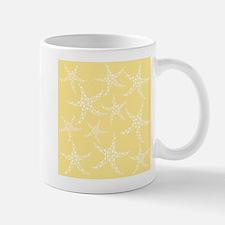 Dotty Starfish, Yellow. Small Small Mug