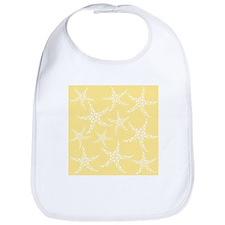 Dotty Starfish, Yellow. Bib