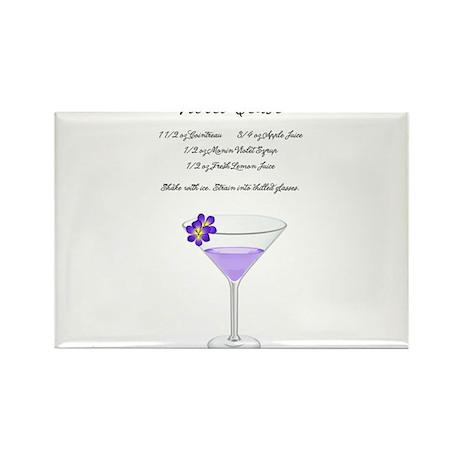 Violet Tease Martini Rectangle Magnet