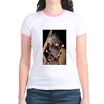 Porcupine With Berry Heart Jr. Ringer T-Shirt