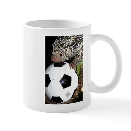 Porcupine With Soccer Ball Mug