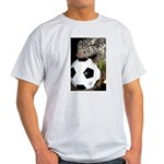 Porcupine With Soccer Ball Light T-Shirt