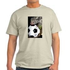 Porcupine With Soccer Ball Light T-Shirt