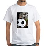 Porcupine With Soccer Ball White T-Shirt