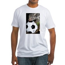 Porcupine With Soccer Ball Fitted T-Shirt