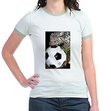 Porcupine With Soccer Ball Jr. Ringer T-Shirt