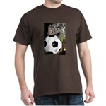 Porcupine With Soccer Ball Dark T-Shirt