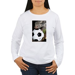 Porcupine With Soccer Ball Women's Long Sleeve T-S