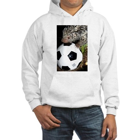 Porcupine With Soccer Ball Hooded Sweatshirt