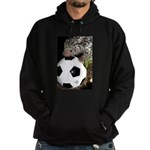 Porcupine With Soccer Ball Hoodie (dark)