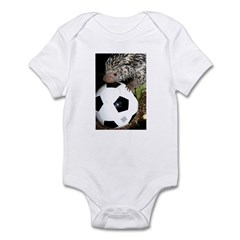 Porcupine With Soccer Ball Infant Bodysuit