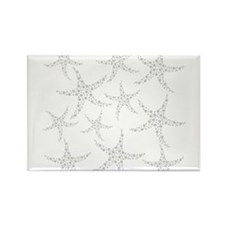 Dotty Gray Starfish. Rectangle Magnet
